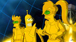 Futurama The Inhuman Torch Gold Fry, Bender and Leela.jpg