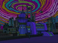 Futurama The Farnsworth Parabox Universe 1 Planet Express Building.jpg