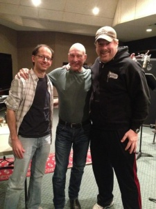 David X. Cohen and John DiMaggio with Patrick Stewart.jpg