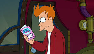 The late philip j fry the infosphere the futurama wiki fry making a birthday card for leela bookmarktalkfo Images