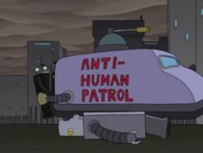 Anti Human Patrol The Infosphere The Futurama Wiki